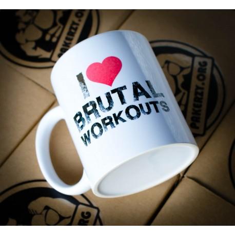 Kubek Pakera I Love Brutal Workouts